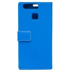 Protection Etui Portefeuille Cuir Bleu Huawei P9 Lite