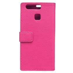 Protection Etui Portefeuille Cuir Rose Huawei P9 Lite