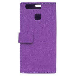 Protection Etui Portefeuille Cuir Violet Huawei P9 Lite