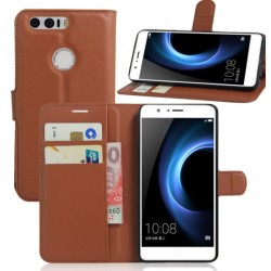 Huawei Honor 8 Brown Wallet Case