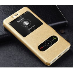 Gold S-view Flip Case For Huawei P8 Lite (2017)
