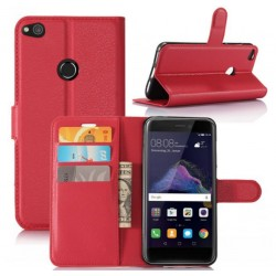 Protection Etui Portefeuille Cuir Rouge Huawei P8 Lite (2017)