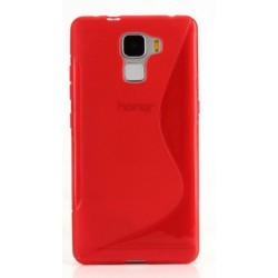 Red Silicone Protective Case Huawei Honor 6X