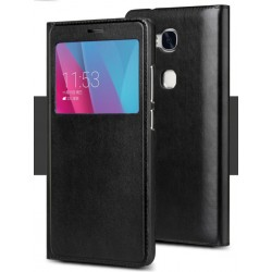 Etui Protection S-View Cover Noir Pour Huawei Honor 6X