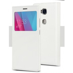 Etui Protection S-View Cover Blanc Pour Huawei Honor 6X