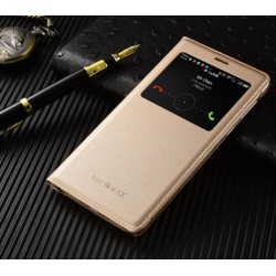 Gold S-view Flip Case For Huawei Honor 6X