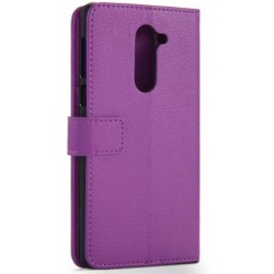 Protection Etui Portefeuille Cuir Violet Huawei Honor 6X