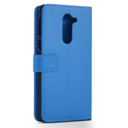 Protection Etui Portefeuille Cuir Bleu Huawei Honor 6X