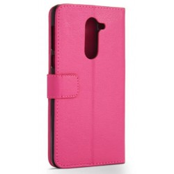 Protection Etui Portefeuille Cuir Rose Huawei Honor 6X