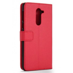 Protection Etui Portefeuille Cuir Rouge Huawei Honor 6X