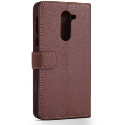 Protection Etui Portefeuille Cuir Marron Huawei Honor 6X