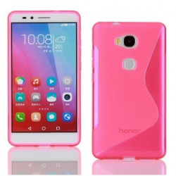 Pink Silicone Protective Case Huawei Honor 5c