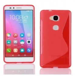 Red Silicone Protective Case Huawei Honor 5c