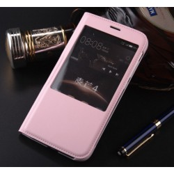 Pink S-view Flip Case For Huawei Honor 5c