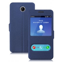 Etui Protection S-View Cover Bleu Pour Huawei Y635