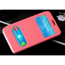 Etui Protection S-View Cover Rose Pour Huawei Ascend Y330