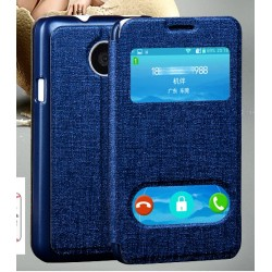 Etui Protection S-View Cover Bleu Pour Huawei Ascend Y330