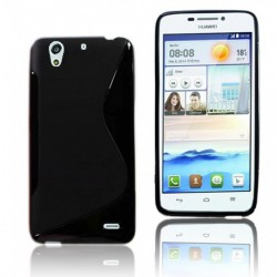 Black Silicone Protective Case Huawei Ascend G620s
