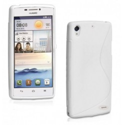 White Silicone Protective Case Huawei Ascend G620s