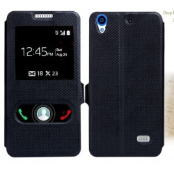 Black S-view Flip Case For Huawei Ascend G620s