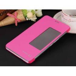 Etui Protection S-View Cover Rose Pour Huawei MediaPad X2