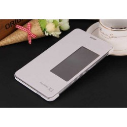 White S-view Flip Case For Huawei MediaPad X2