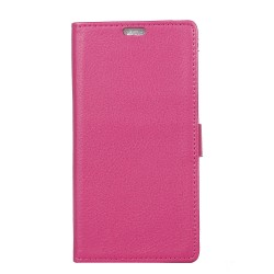 Protection Etui Portefeuille Cuir Rose Huawei Honor 5x