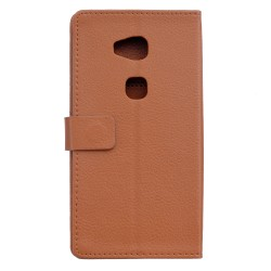 Protection Etui Portefeuille Cuir Marron Huawei Honor 5x