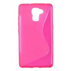 Pink Silicone Protective Case Huawei Honor 7