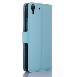 Protection Etui Portefeuille Cuir Bleu Huawei Honor 4a