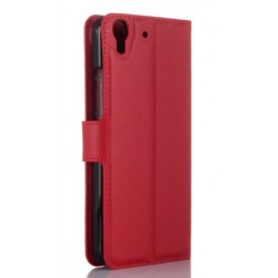 Protection Etui Portefeuille Cuir Rouge Huawei Honor 4a