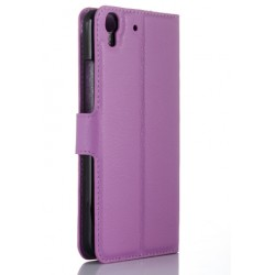 Protection Etui Portefeuille Cuir Violet Huawei Honor 4a