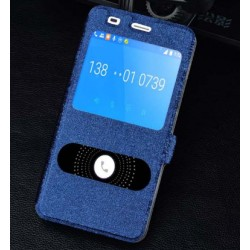 Etui Protection S-View Cover Bleu Pour Huawei Honor 4a
