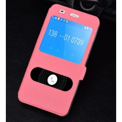 Etui Protection S-View Cover Rose Pour Huawei Honor 4a