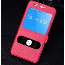 Red S-view Flip Case For Huawei Honor 4a