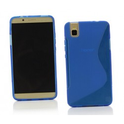 Blue Silicone Protective Case Huawei Honor 7i