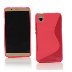 Pink Silicone Protective Case Huawei Honor 7i