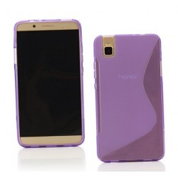 Purple Silicone Protective Case Huawei Honor 7i