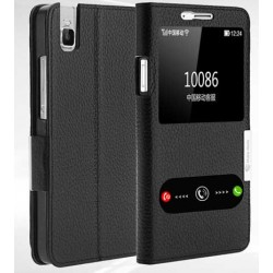 Etui Protection S-View Cover Noir Pour Huawei Honor 7i