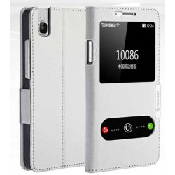 Etui Protection S-View Cover Blanc Pour Huawei Honor 7i