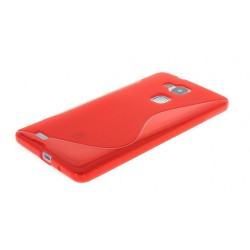 Red Silicone Protective Case Huawei G8