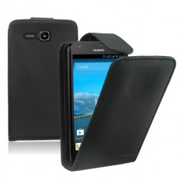 Huawei Ascend Y600 Black Flip Leather Case