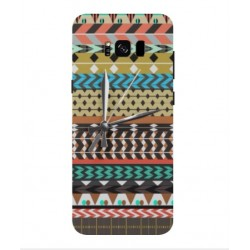 Samsung Galaxy S8 Mexican Embroidery With Clock Cover