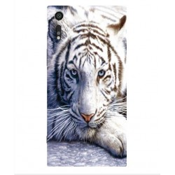 Sony Xperia XZs White Tiger Cover