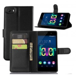 Wiko Fever 4G Black Wallet Case