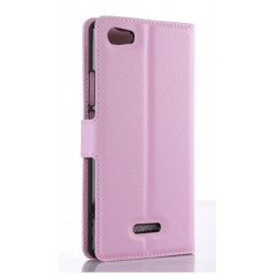 Wiko Fever 4G Pink Wallet Case