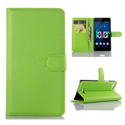 Wiko Fever 4G Green Wallet Case