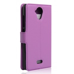 Protection Etui Portefeuille Cuir Violet Wiko U Feel