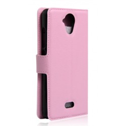 Protection Etui Portefeuille Cuir Rose Wiko U Feel Lite
