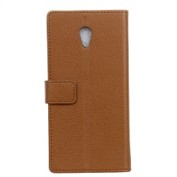 Wiko Robby Brown Wallet Case
